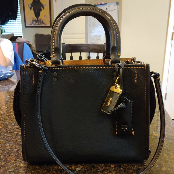 COACH Handbags - COACH Rogue 25 Black 1st Generation Like New!